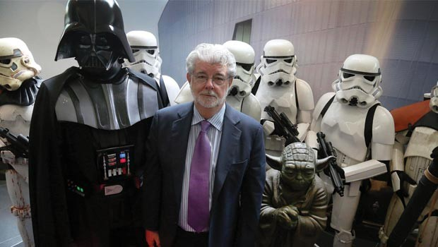 george-lucas-with-darth-vader-stormtroppers-and-yoda